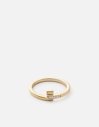 Cubist Ring, 14k Gold Pave | Women's Rings | Miansai