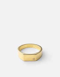 Geo Signet w/Diamond, 14k Gold, Polished | Men's Rings | Miansai