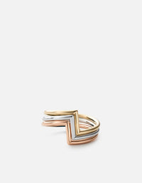 Miansai - Arch Ring Set, Silver/Rose/Gold