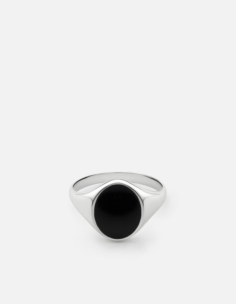 Miansai - Heritage Ring, Sterling Silver/Black