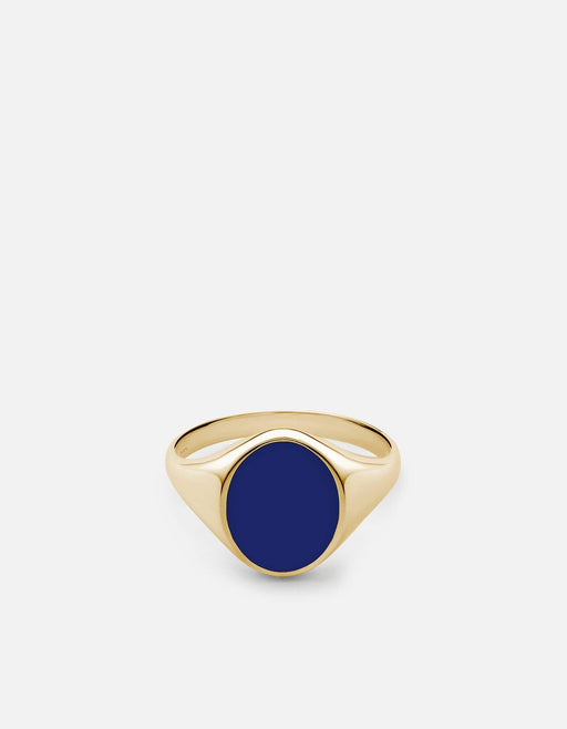 Miansai - Heritage Ring, Gold Vermeil/Blue