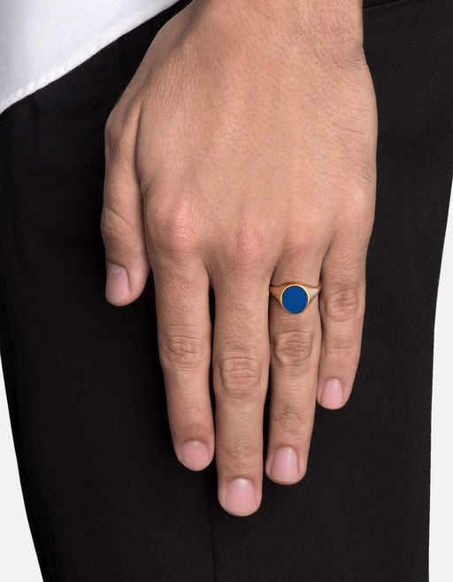 Heritage Ring, Gold Vermeil w/Enamel, Polished | Men's Rings | Miansai