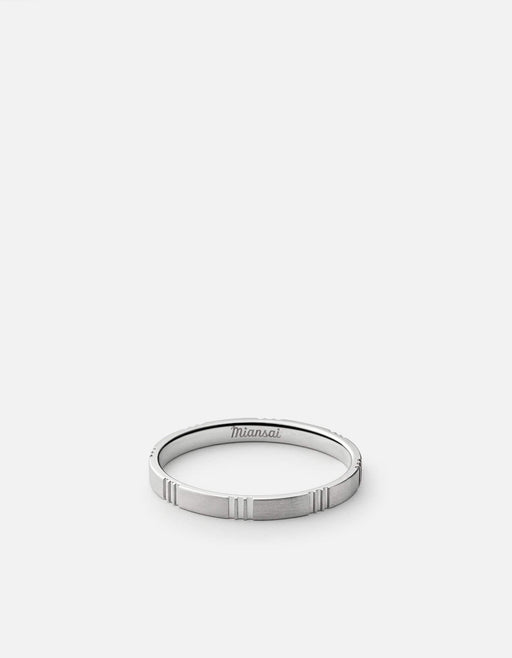 Miansai - Bolt Ring, Matte Silver