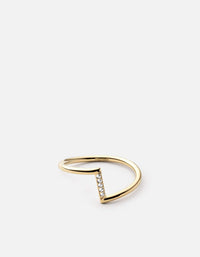 Arch Ring, 14k Gold Pavé | Women's Rings | Miansai