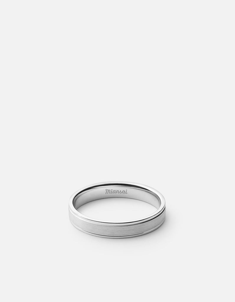 Track Ring, Sterling Silver | Men's Rings | Miansai