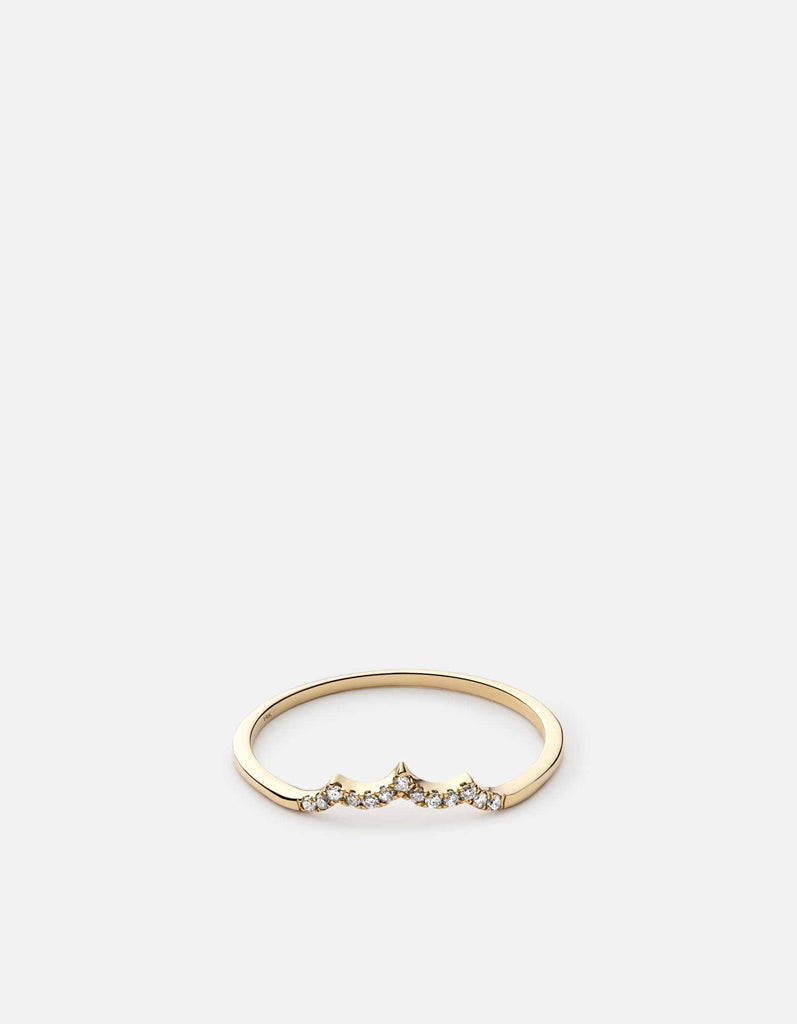 Miansai - Faye Ring, 14k Gold Pavé