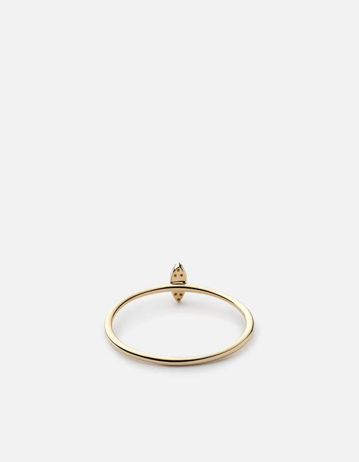 Miansai - Marquise Ring, 14k Gold Pavé