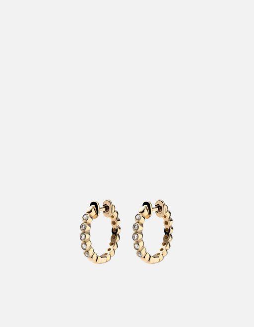 Miansai - Cleo Huggie Earrings, 14k Gold Pavé