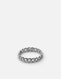 Cuban Link Ring, Sterling Silver - Miansai