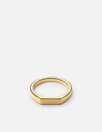 Thin Geo Ring, Gold Vermeil - Miansai