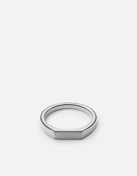 Thin Geo Ring, Sterling Silver - Miansai