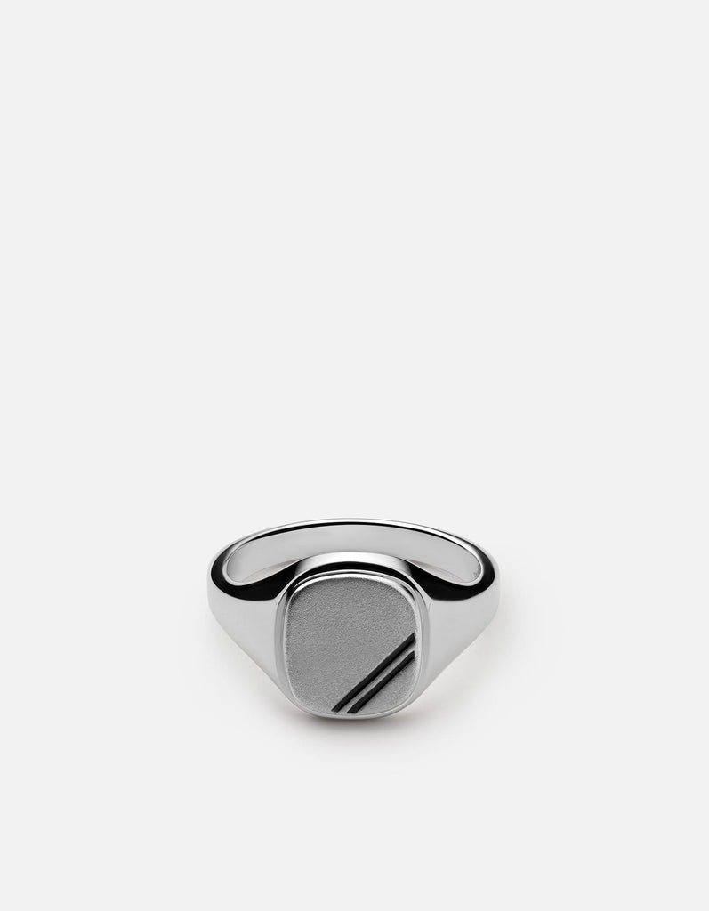 Square Step Ring, Sterling Silver w/Enamel - Miansai