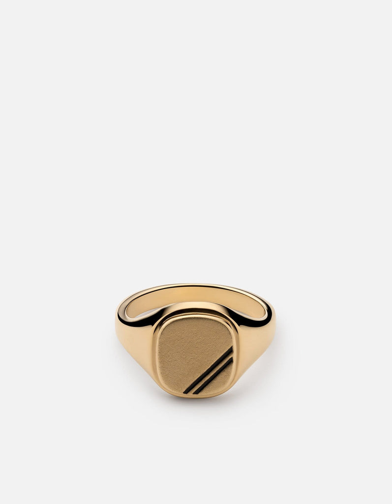 Square Step Ring, Gold Vermeil w/Enamel - Miansai