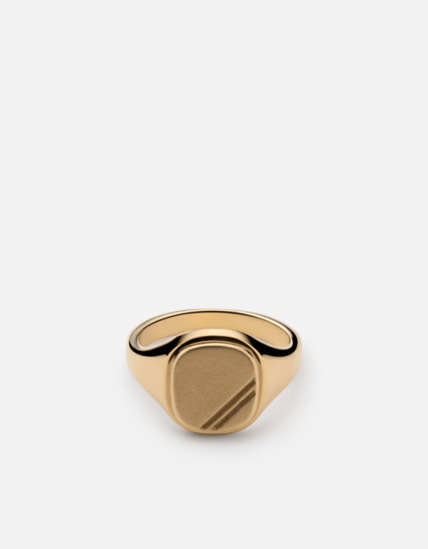 Square Step Ring, Gold Vermeil - Miansai