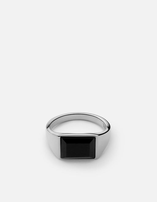 Lennox Onyx Ring, Sterling Silver | Men's Rings | Miansai