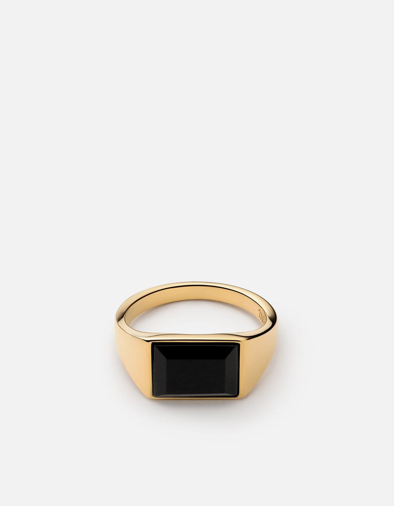 Lennox Onyx Ring, Gold Vermeil | Women's Rings | Miansai