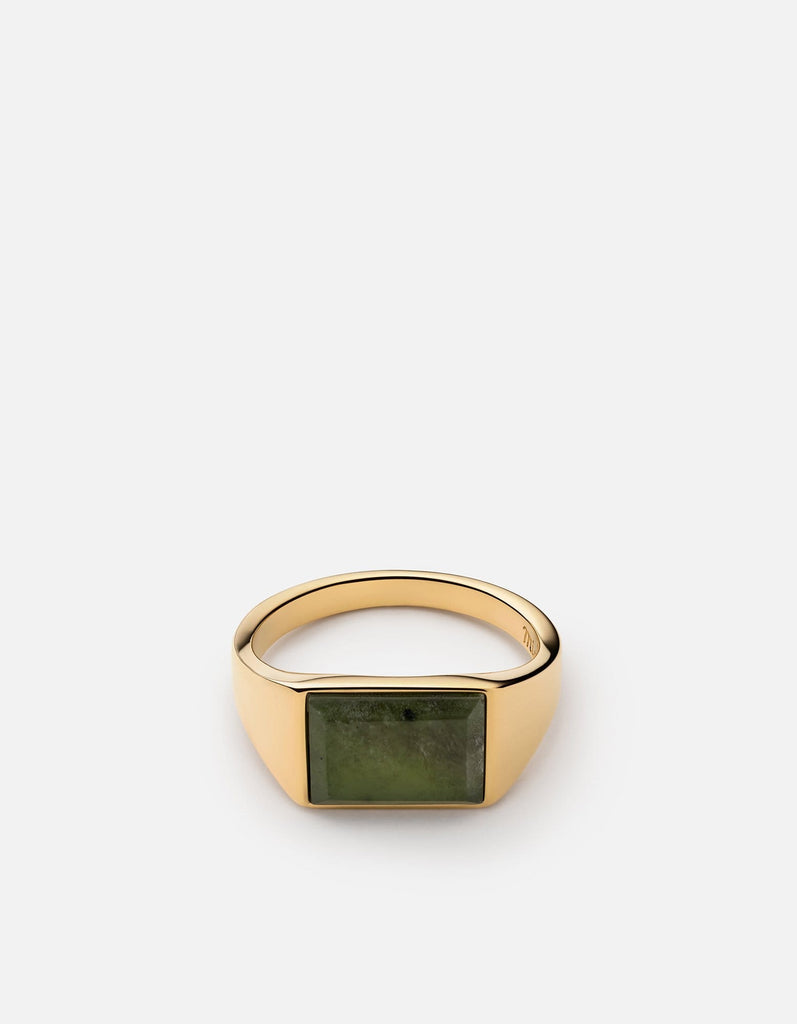 Lennox Jasper Ring, Gold Vermeil | Women's Rings | Miansai