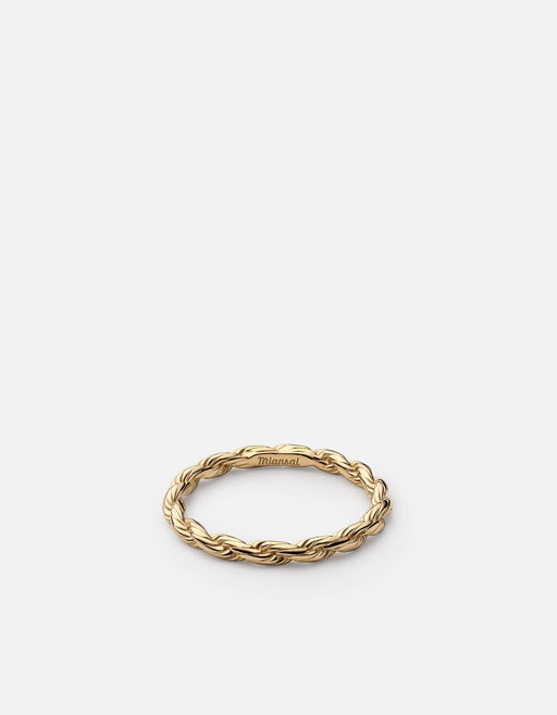 Rope Chain Ring, Gold Vermeil - Miansai