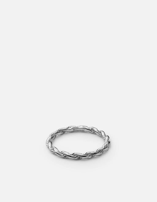 Rope Chain Ring, Sterling Silver - Miansai