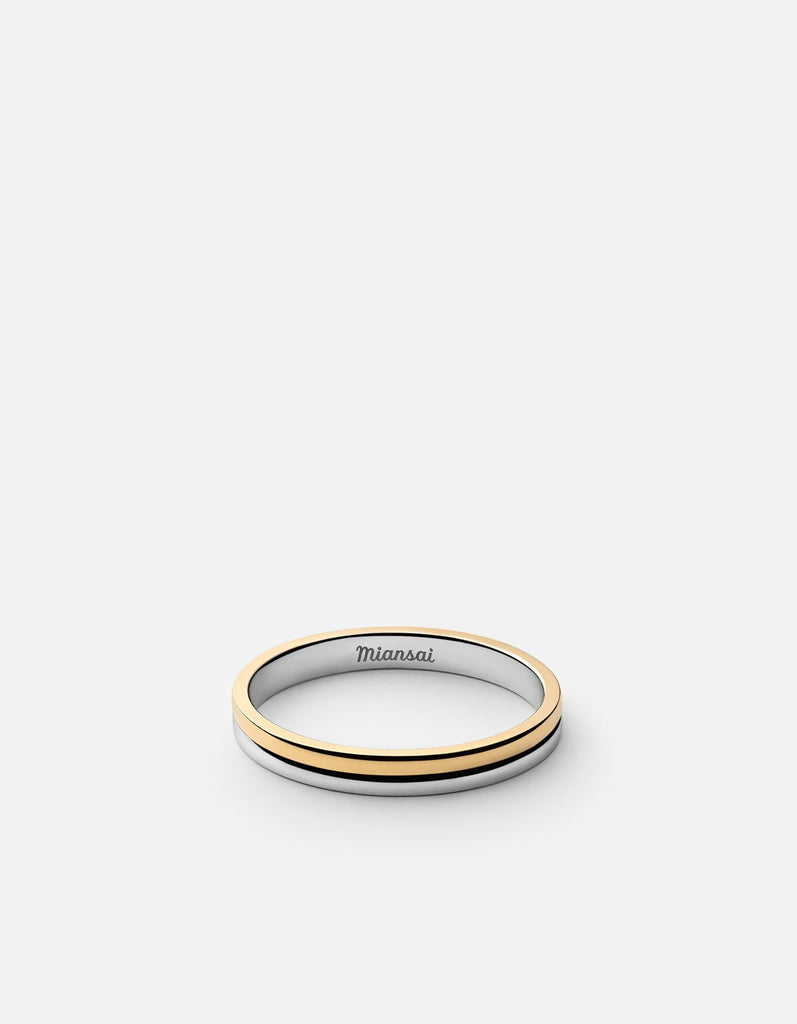 Duo Ring, Sterling Silver/Gold Vermeil | Men's Rings | Miansai