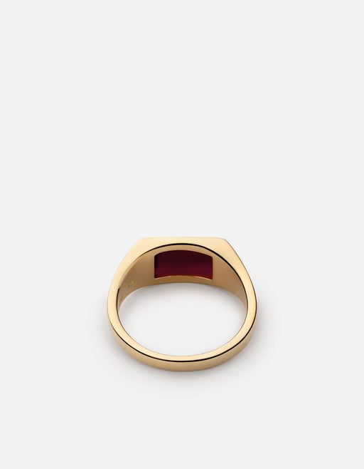 Lennox Agate Ring, 14k Yellow Gold - Miansai