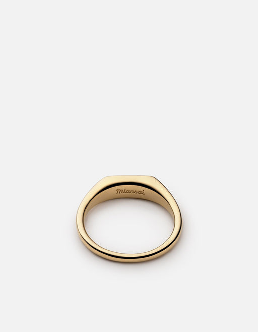 Thin Pax Ring, Gold Vermeil w/Enamel - Miansai