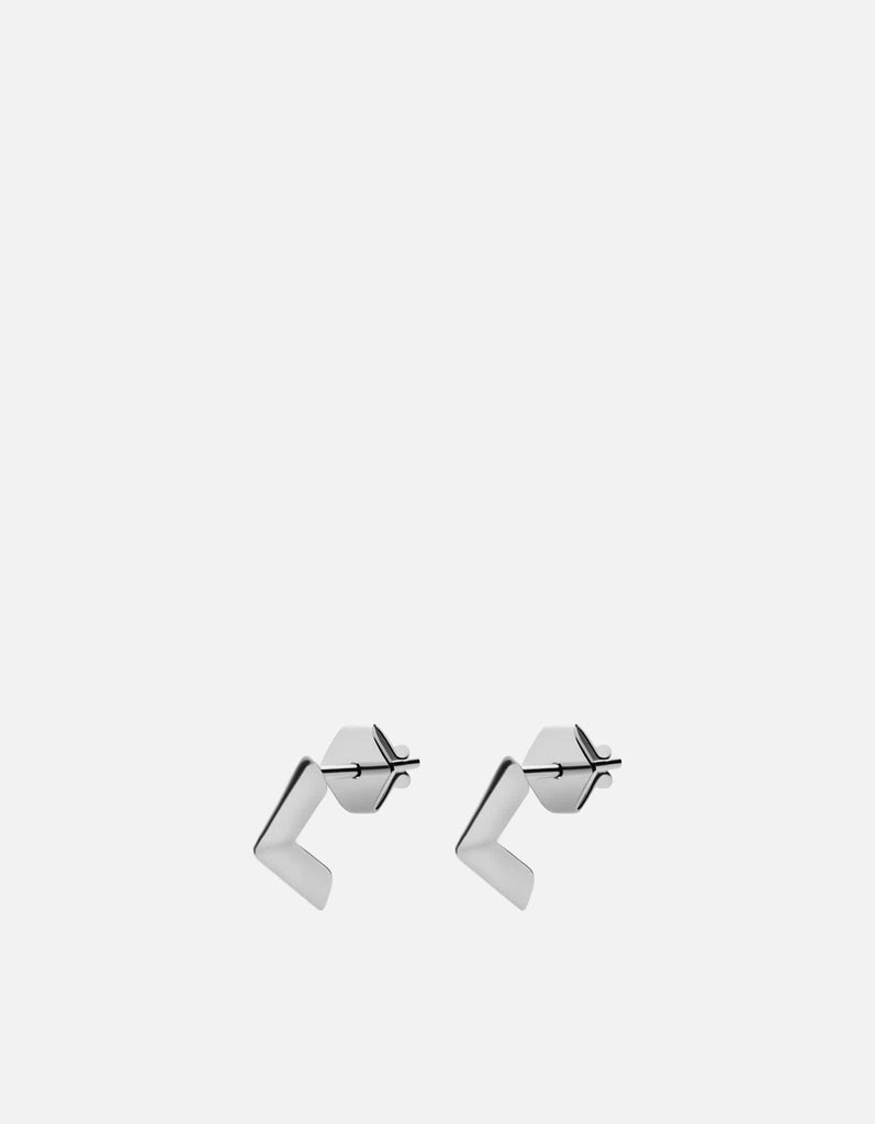 Miansai - Angular Studs, Sterling Silver