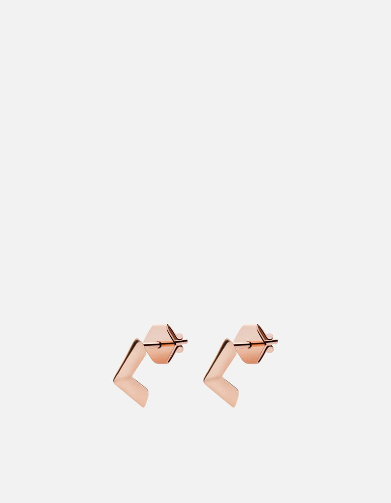 Angular Studs, Rose Vermeil | Women's Earrings | Miansai