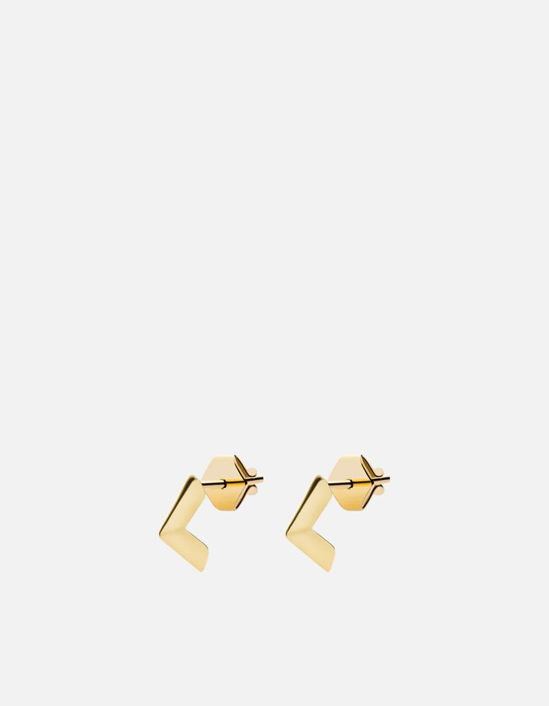 Angular Studs, Gold Vermeil | Women's Earrings | Miansai