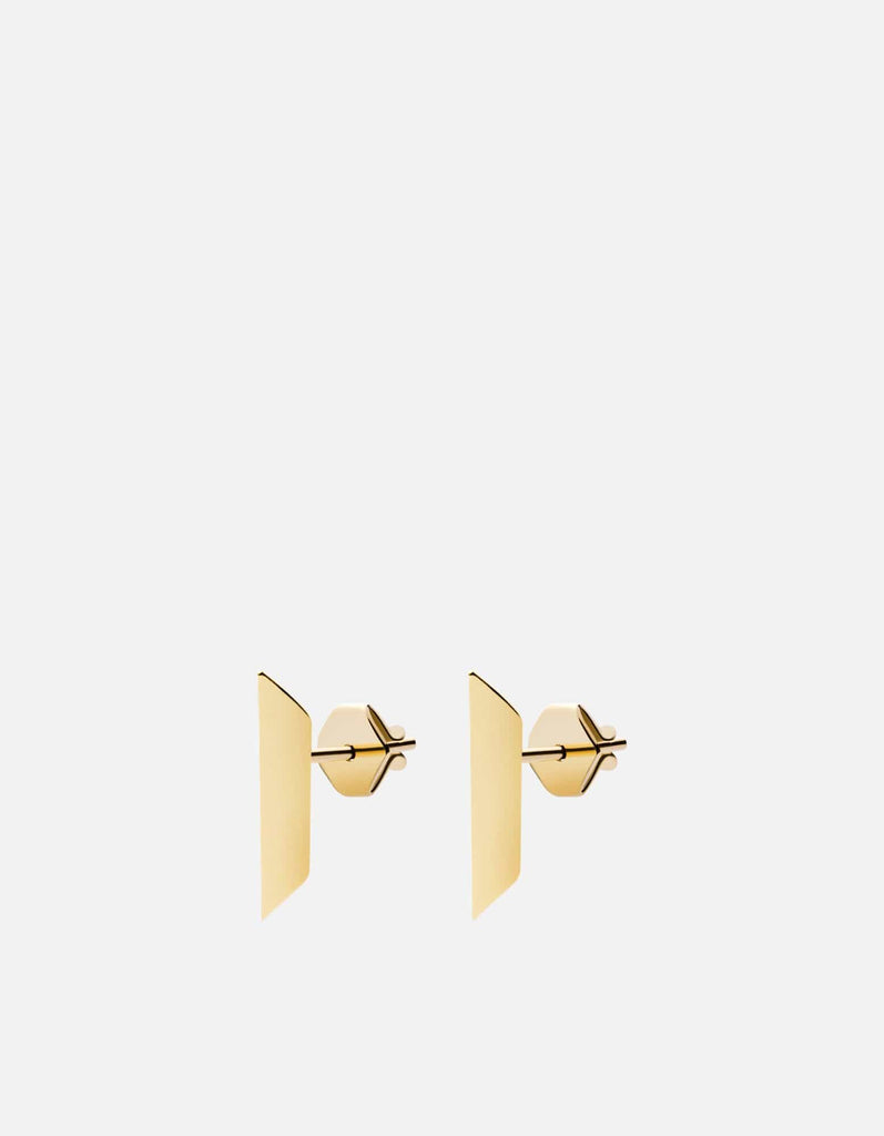 Bar Studs, Gold Vermiel | Women's Earrings | Miansai