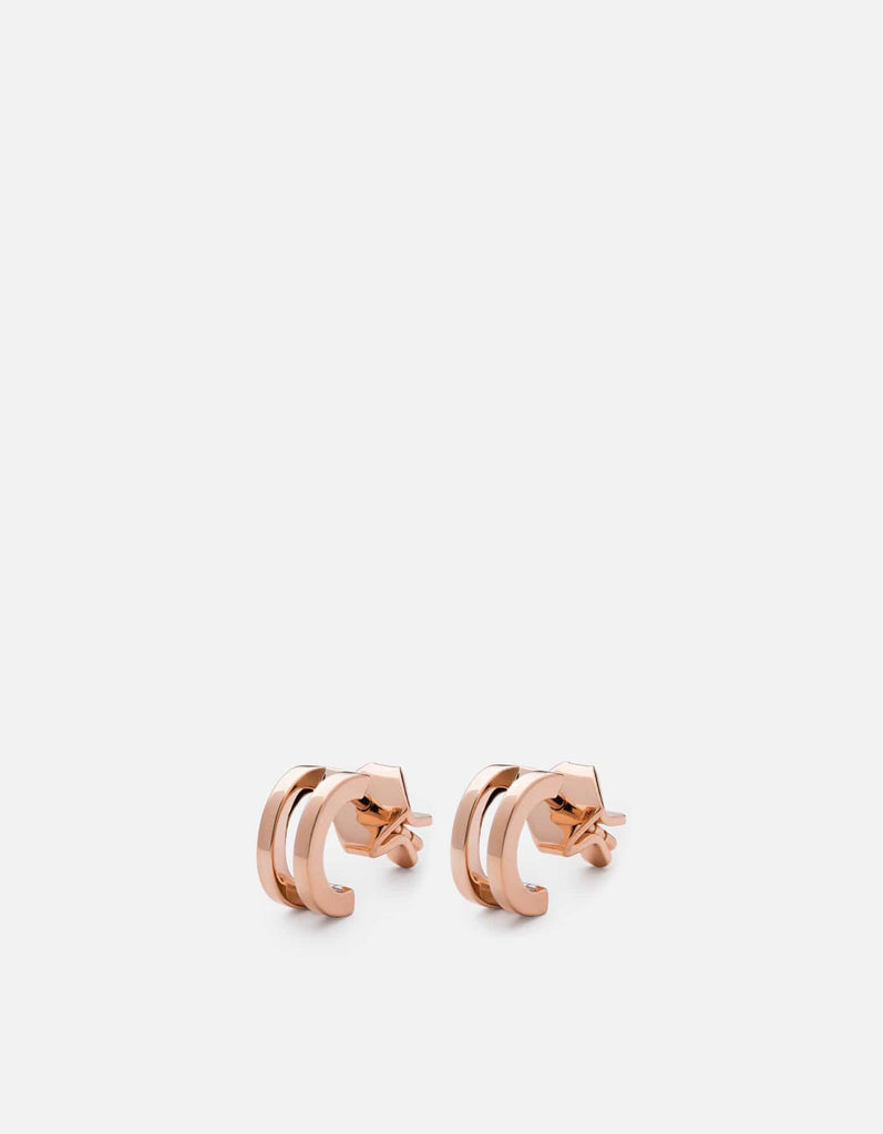 Miansai - Split Layer Earrings, Rose Vermeil