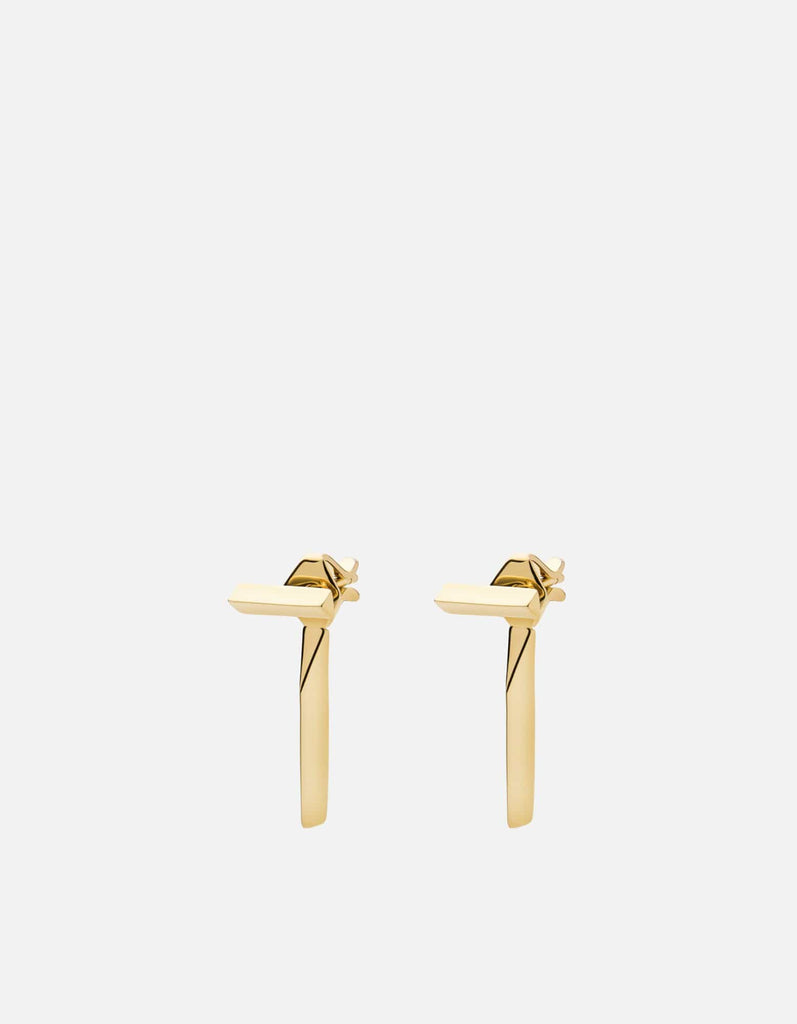 T Bar Studs, Gold Vermeil | Women's Earrings | Miansai