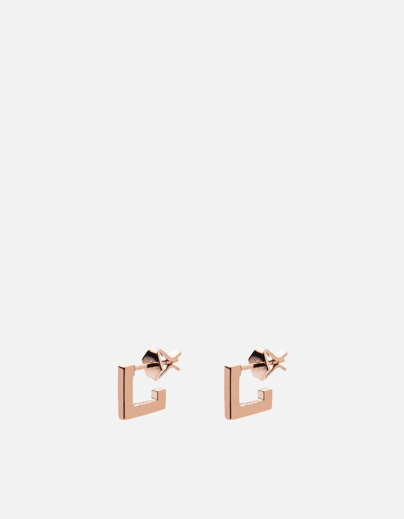Miansai - Square Bar Studs, Rose Vermeil