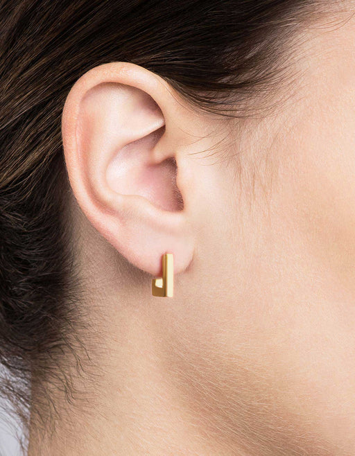 Square Bar Studs, Gold Vermeil | Women's Earrings | Miansai