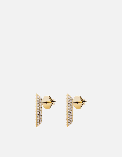 Miansai - Bar Studs, 14k Gold Pavé