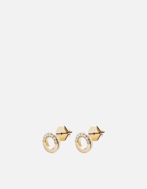 Miansai - Washer Studs, 14k Gold Pavé
