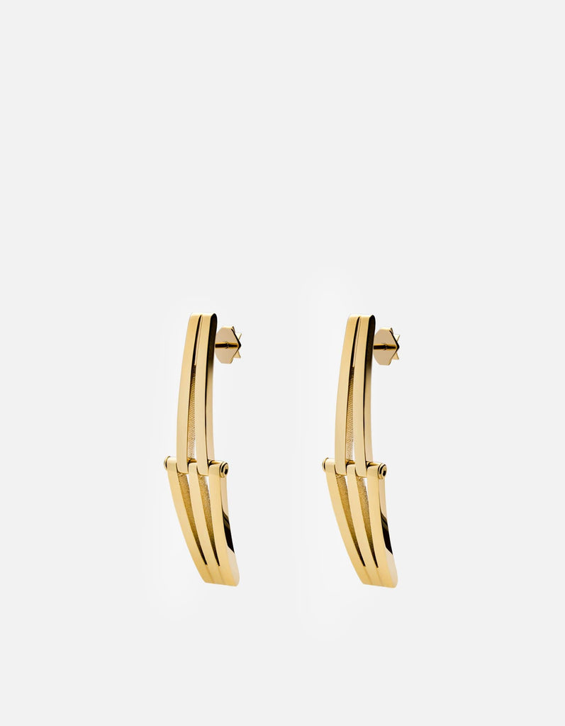 Offset Earrings, Gold Vermeil | Women's Earrings | Miansai