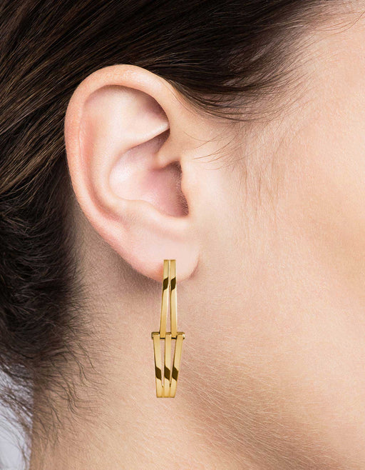 Miansai - Offset Earrings, Gold Vermeil