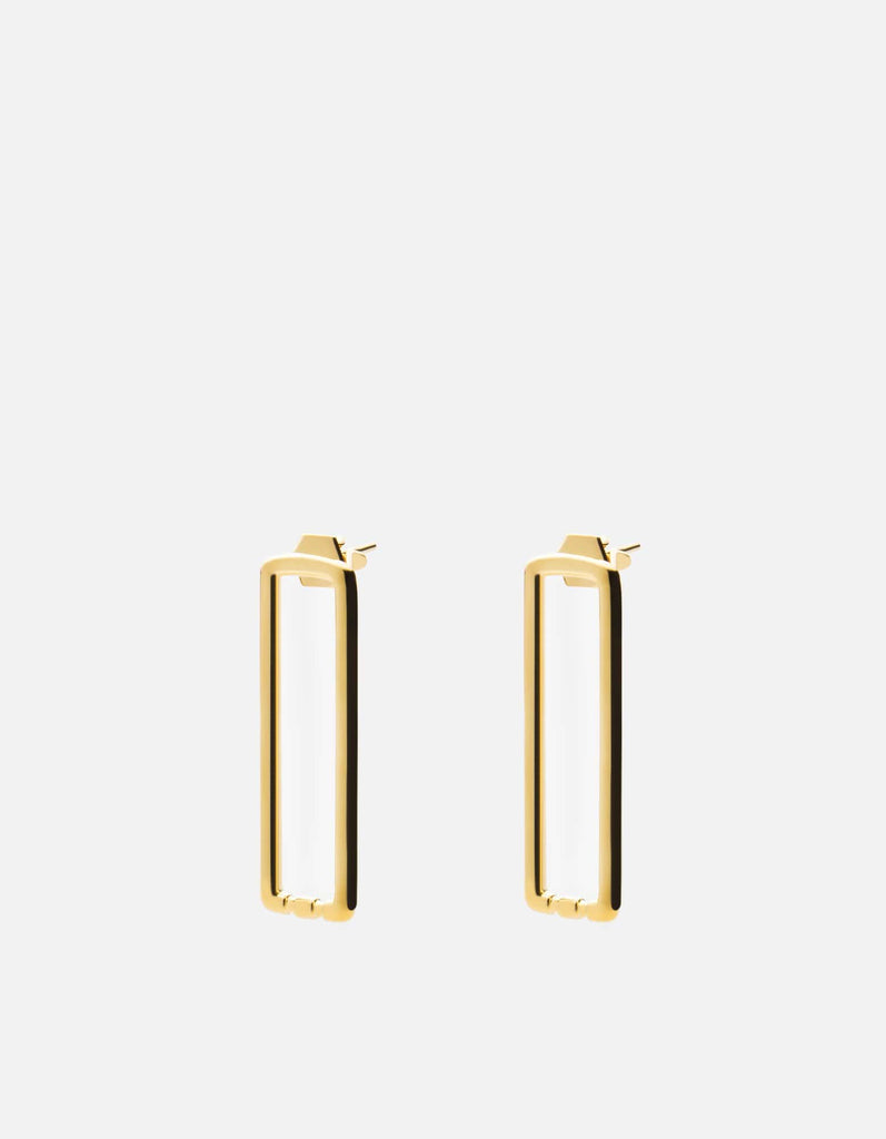 Channel Earrings, Gold Vermeil, Polished | Women's Earrings | Miansai