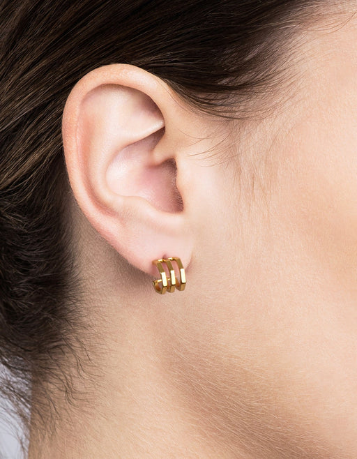 Ponti Studs, Gold Vermeil, Polished | Women's Earrings | Miansai
