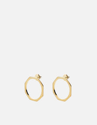 Miansai - Ponti Earrings, Gold Vermeil