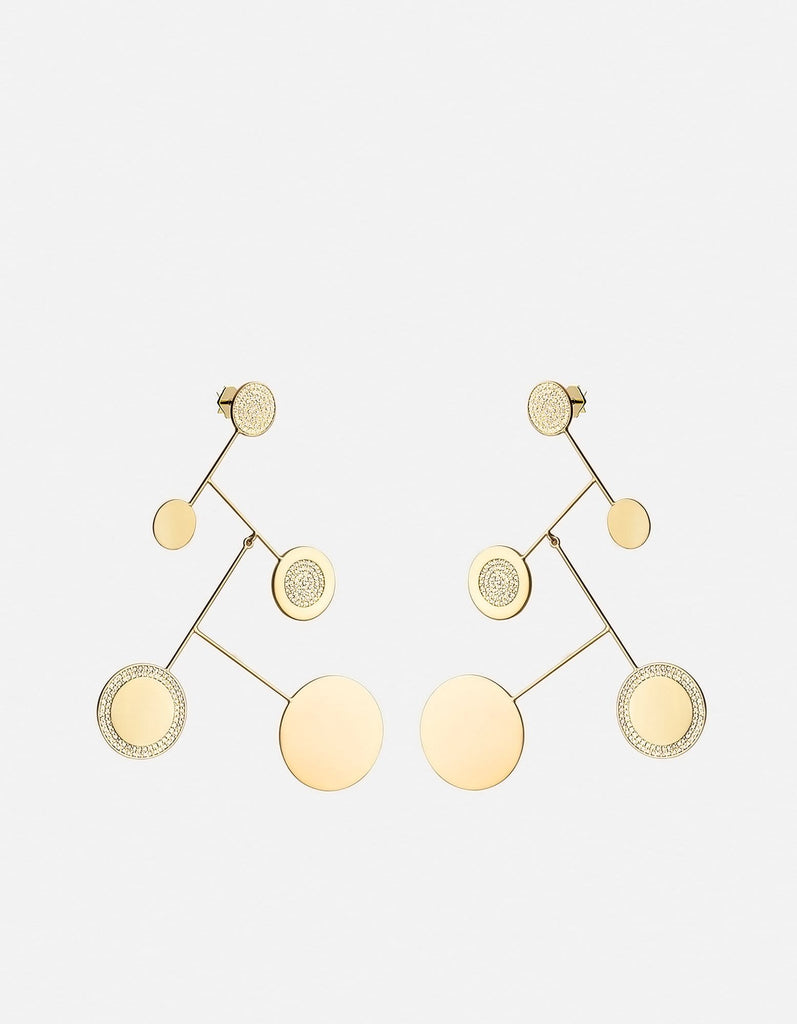 Miansai - Xander Earrings, Gold Vermeil/Sapphire
