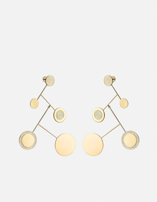 Xander Earrings, Gold Vermeil w/White Sapphire, Polished | Women's Earrings | Miansai