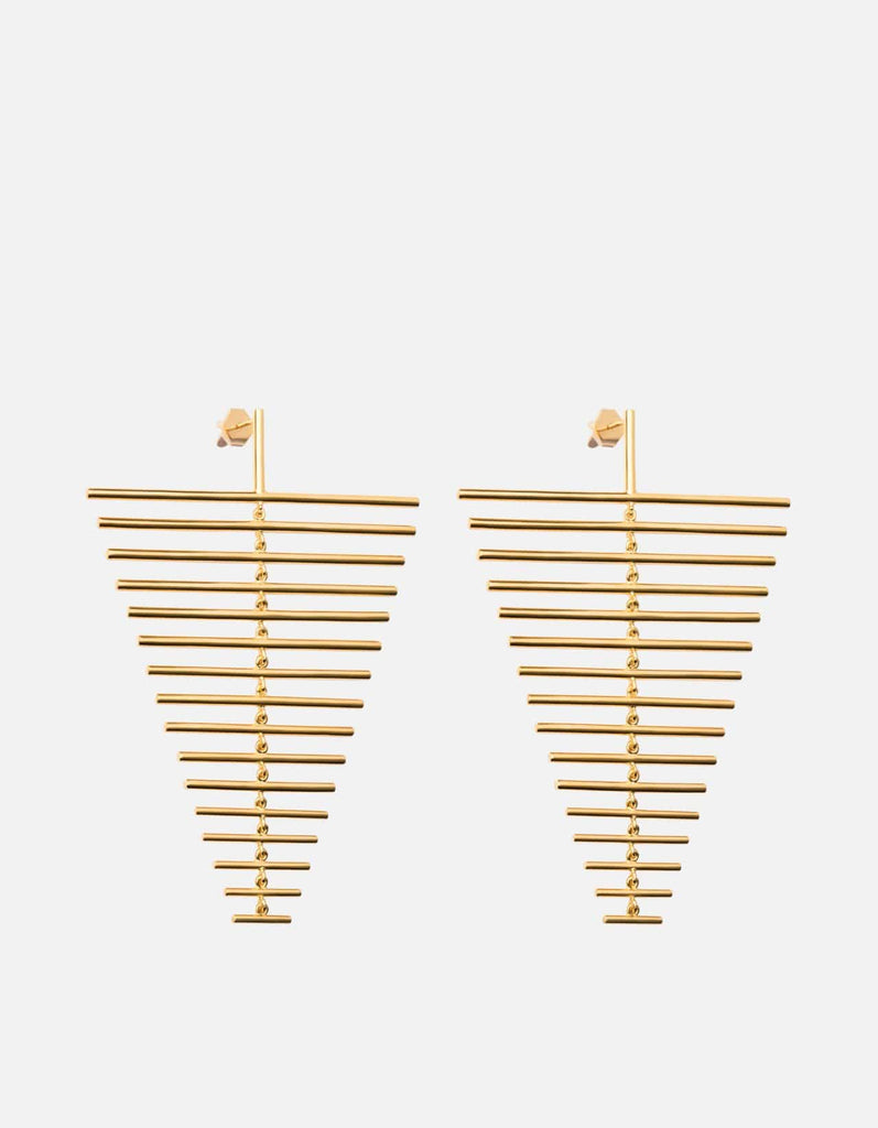 Miansai - Falcon Earrings, Gold Vermeil