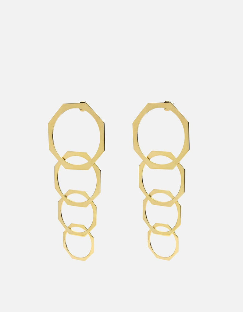 Miansai - Octet Earrings, Gold Vermeil