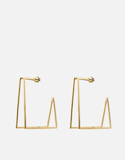 Miansai - Axis Earrings, Gold Vermeil