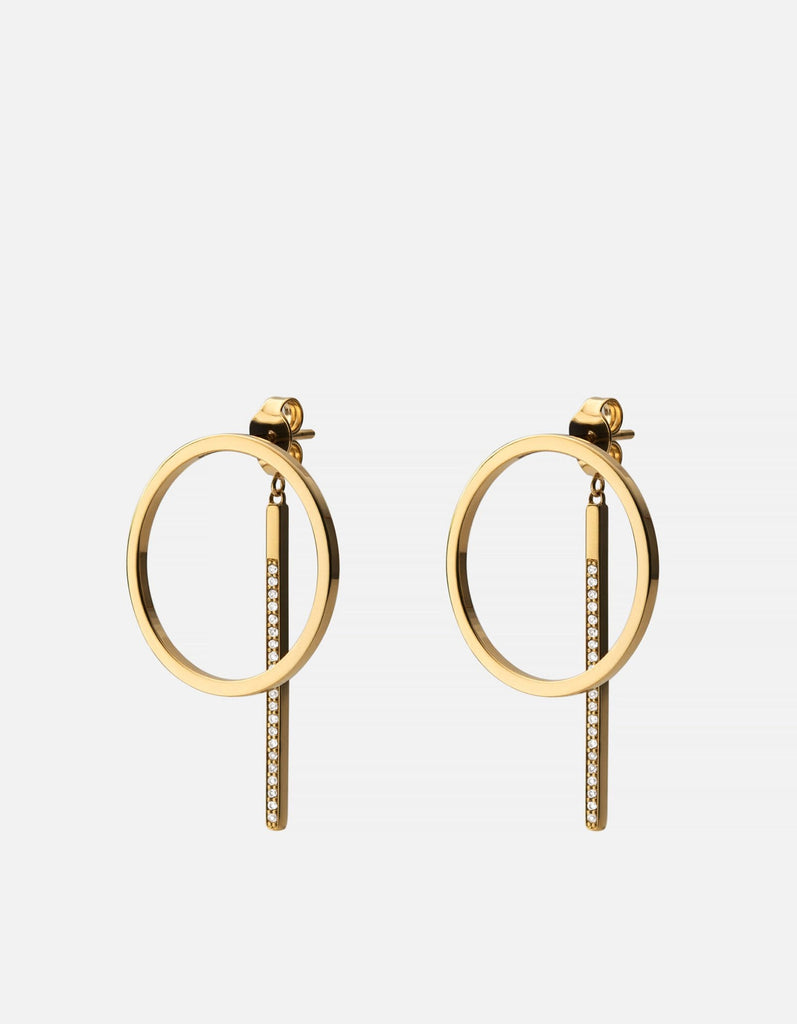 Cora Earrings, Gold Vermeil/Sapphire