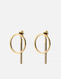 Miansai - Cora Earrings, Gold Vermeil/Sapphire