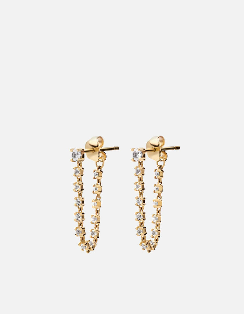 Comet Earrings, Gold Vermeil w/White Sapphires - Miansai
