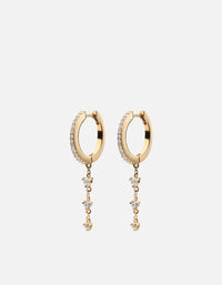 Rhea Earrings, Gold Vermeil w/White Sapphires - Miansai
